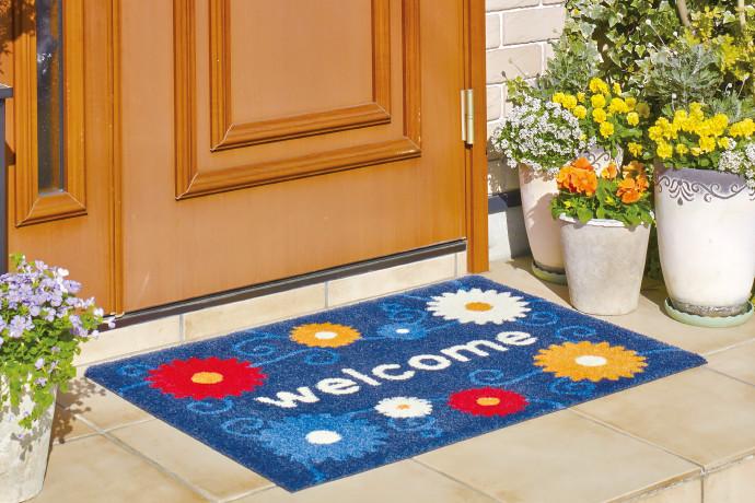 家庭用玄関マット オーダーメイドフラワータイプ